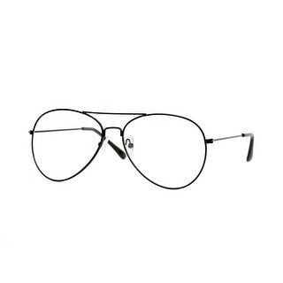Black Frame Clear Lens Aviator QL - One Size