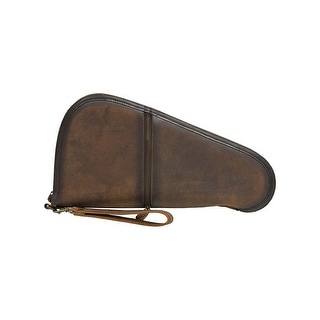 STS Ranchwear Western Gun Case Mens Leather Zip Large Brown STS34158