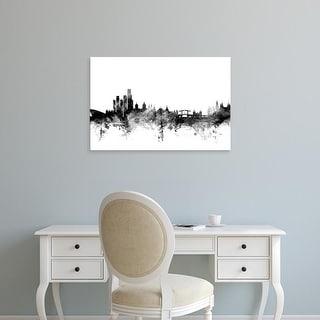 Easy Art Prints Michael Tompsett's 'Amsterdam The Netherlands Skyline' Premium Canvas Art