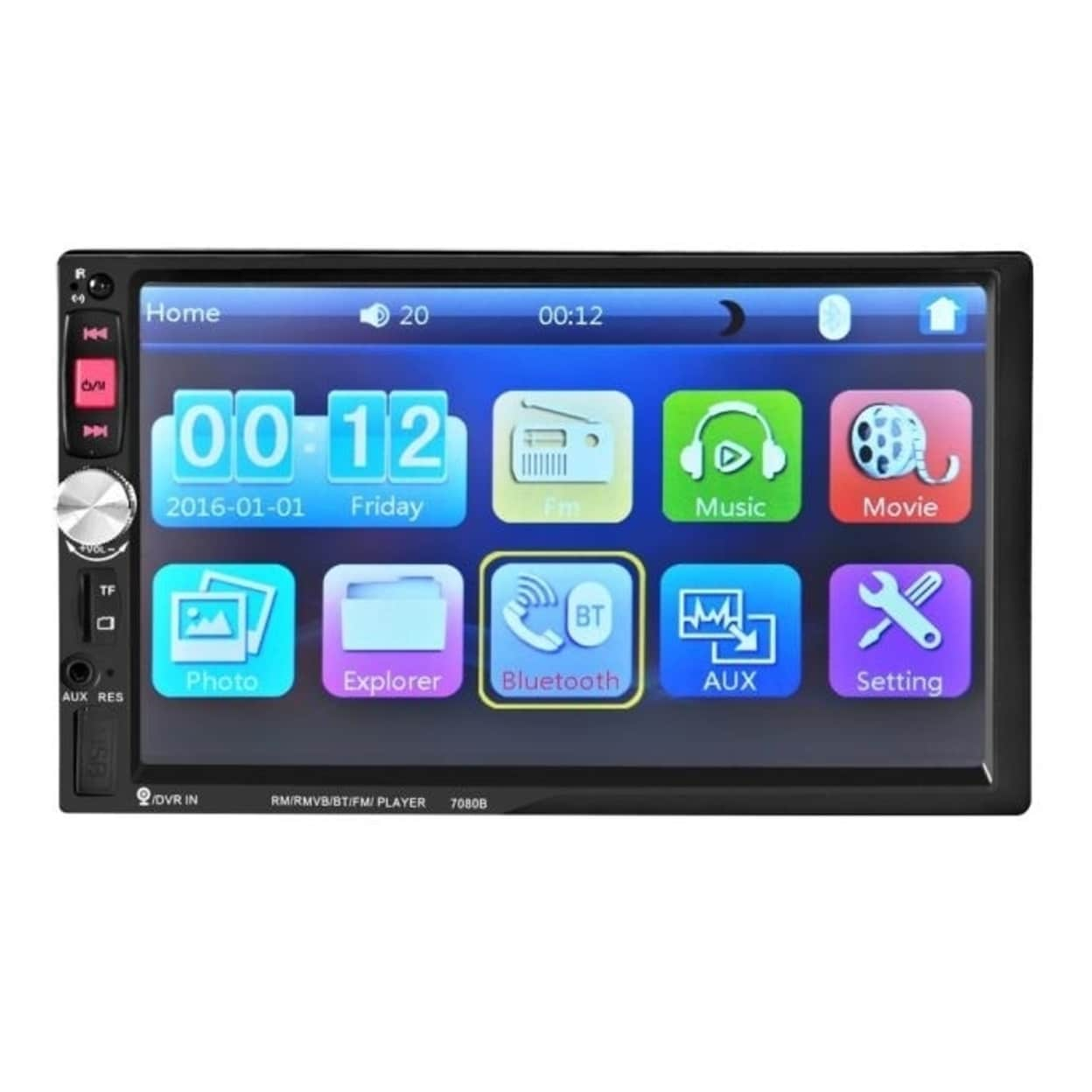 7/'/' Car Stereo Radio bluetooth Player Double 2 Din HD Touch Screen FM//MP5 Camera