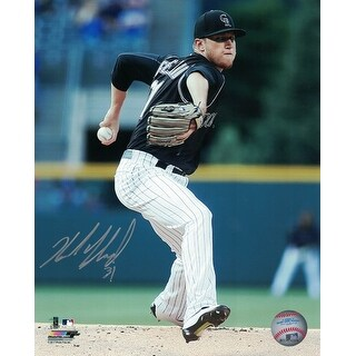 Kyle Freeland Autographed Colorado Rockies 8x10 Photo Black