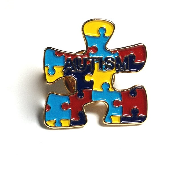 Autism Puzzle Pin - multi color