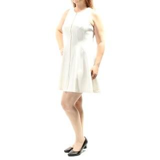 BAR III $80 Womens New 1035 Ivory Zippered Sleeveless Fit + Flare Dress S B+B