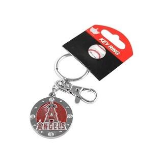 Los Angeles Angels MLB Impact Metal Key Ring Keychain