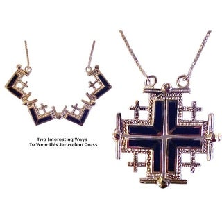 Jerusalem Cross With Lapis Stones Duet