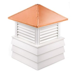 "114"" Handcrafted ""Dover"" Copper Roof Vinyl Cupola"