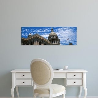 Easy Art Prints Panoramic Images's 'Low angle view of the Texas State Capitol Building, Austin, Texas, USA' Canvas Art