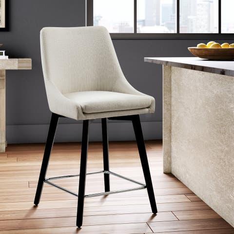 Furniture R Mid-century Modern Wood Counter Bar Stool