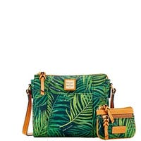 Dooney & Bourke Siesta Coated Cotton Lexington Crossbody Small Coin Case (Introduced by Dooney & Bourke at $218 in Jan 2018)