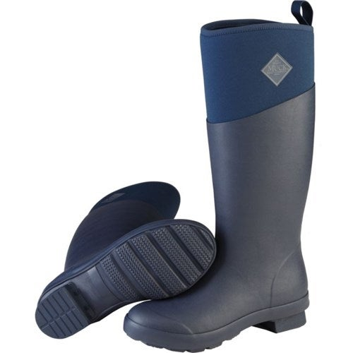 Muck Boot's Women's Tremont Tall Navy Boots w/ Warm Fleece Lining - Size 7