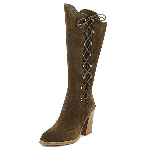 Sbicca Dante Women Round Toe Suede Brown Knee High Boot