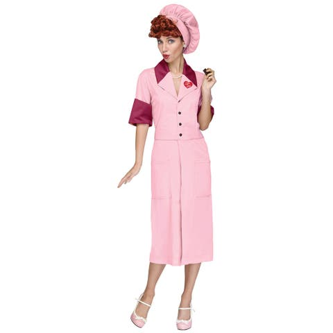Womens I Love Lucy Candy Factory Dress Vintage Costume
