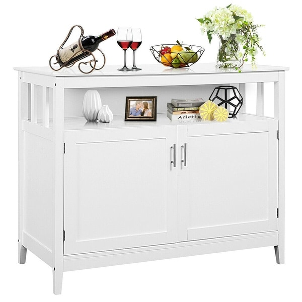 shop costway modern kitchen storage cabinet buffet server