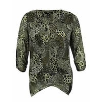 Style & Co. Women's Animal Print Blouse - nouveau neutral - 0X
