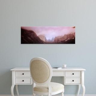 Easy Art Prints Panoramic Images's 'Yosemite Valley CA USA' Premium Canvas Art