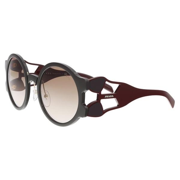 52372d1d0a Shop Prada PR 13US DHO0A6 Brown Round Sunglasses - 54-24-140 - Free ...