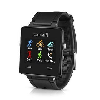 Garmin Vivoactive Black GPS-Enabled Sports Watch w/ On-Device Data Fields/Screens
