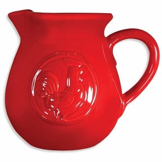 Red Rooster Ceramic Pitcher - 24 Ounce - By Home Essentials