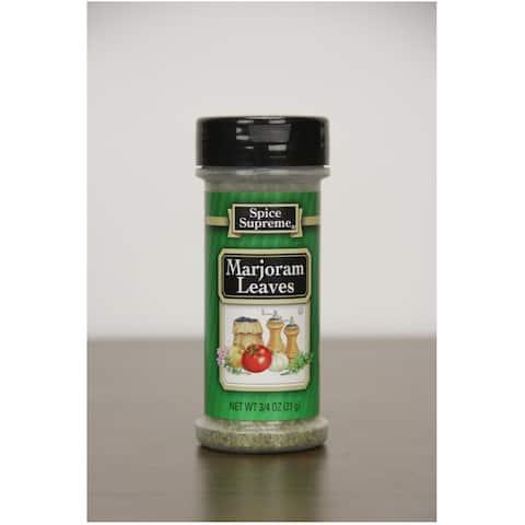 Pack of 12 Spice Supreme Marjoram Leaves Seasonings .75 oz - Green - N/A