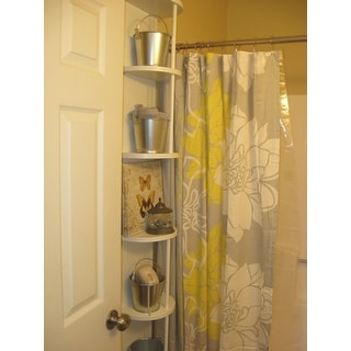 The Curated Nomad Paz Cotton Sateen Floral Printed Shower Curtain