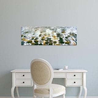 Easy Art Prints Panoramic Image 'Breaking wave, Calumet Beach, La Jolla, San Diego, San Diego, California' Canvas Art