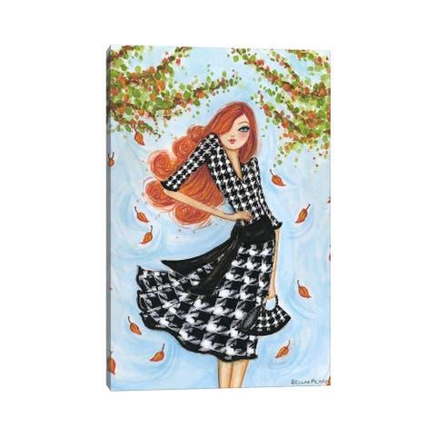 "iCanvas ""Best dress Houndstooth"" by Bella Pilar Canvas Print"