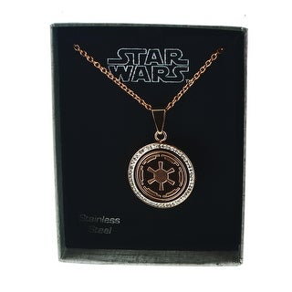 Star Wars Logo Necklace Pendant 18 Chain Silver Free Shipping