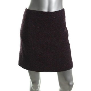 Theory Womens Faralay Tweed Lined A-Line Skirt - 10