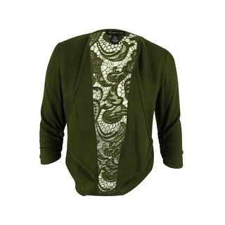INC International Concepts Women's Lace-Back Linen Jacket - pl