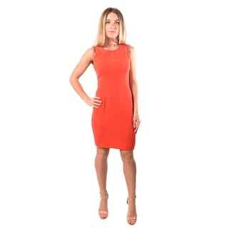 Versace Jeans Couture Women Technical Cadi Dress Coral Gold