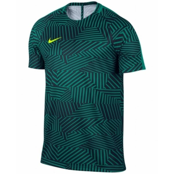46dd9881 Nike NEW Green Mens Size 2XL Dri-Fit Geometric Print Soccer Shirt. Click to  Zoom