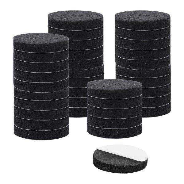 "36pcs Felt Pads Round Dia 1 1/2"" Self Stick Anti-scratch Pads Reduce Noise for Furniture Leg Floor Protector Black"