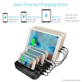 Skiva StandCharger (7-Port / 84W / 16.8A) Desktop USB Fast Charging Station Dock with '7units of Short (0.5ft) Lightning Cables' - Thumbnail 8