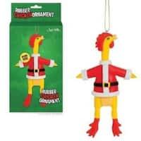 Santa Rubber Chicken Ornament