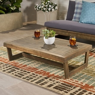 Link to Sherwood Outdoor Acacia Wood Coffee Table by Christopher Knight Home Similar Items in Outdoor Coffee & Side Tables