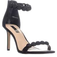 I35 Gabbye Studded Ankle Strap Sandals, Black