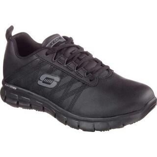 Skechers Women's Work Relaxed Fit Sure Track Erath Slip Resistant Black