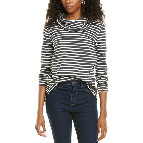 Jones New York Striped Pullover