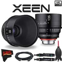 Rokinon Xeen 50mm T1.5 Lens for PL Mount + Rokinon Xeen 135mm T2.2 Lens with PL Mount Bundle