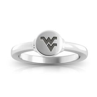 West Virginia University Engraved Sterling Silver Signet Ring