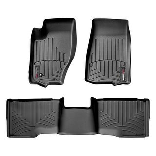 WeatherTech 44013-1-2 Black Front & Rear FloorLiner: Jeep Grand Cherokee 2005- 2010