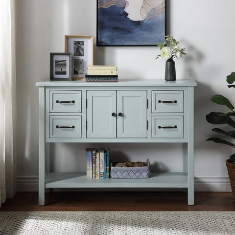 43'' Modern Console Table Sofa Table for Living Room with 4 Drawers