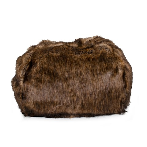 Tipped Ombre Faux Fur Pet Bed