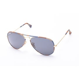 Ray-Ban Aviator Full Color Sunglasses Navy Camoflauge/Gold - Small