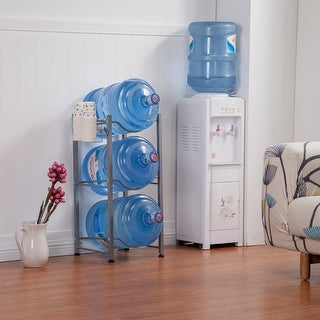 Link to 3-Tier Water Rack Stainless Steel Heavy Duty Water Cooler Jug Rack Similar Items in Kitchen Storage