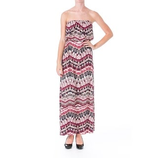 Trixxi Womens Juniors Matte Jersey Printed Maxi Dress