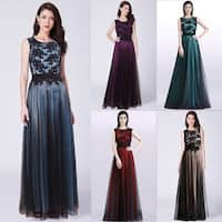 Ever-Pretty Women's A-Line Lace Tulle Prom Party Bridesmaid Maxi Dress 07545