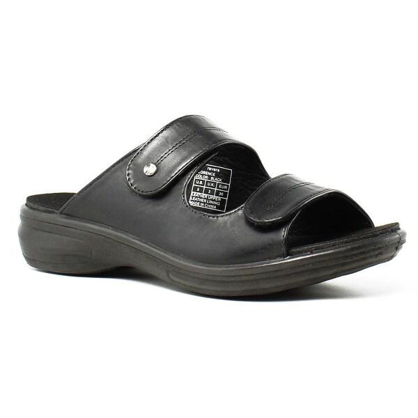 db55937fd34 Shop Revere Womens Black Slide Flats Size 5 New - On Sale - Free ...