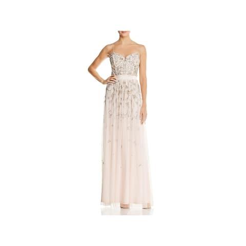 084c545341 Aidan Mattox Womens Evening Dress Embellished A-Line