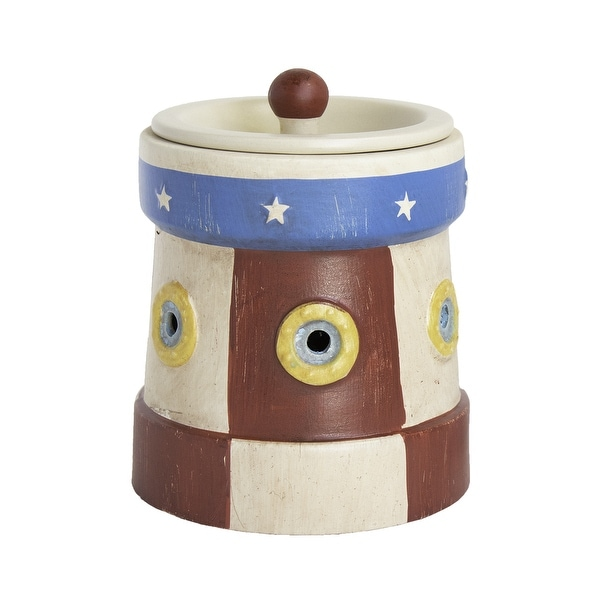 Home Indoor Decorative Scented Lighthouse Full Size Ceramic Wax Warmer - Red, White, Blue - N/A